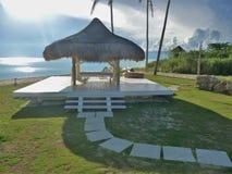 Tropiska Spa vid havet royaltyfri fotografi