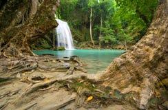 tropiska vattenfall för djungel Arkivbild