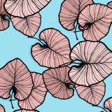 Tropiska vektorpalmblad Moderiktig sommargarnering Stam- garnering för modern Hawaii strand Modernt tryck för paradis royaltyfri illustrationer