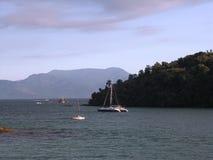 tropiska yachter för hav Arkivfoto