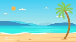 Tropiskt begrepp för natur för fritid för semester för strandloppferie Royaltyfria Bilder