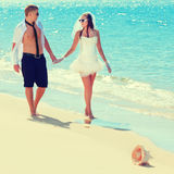 tropiskt bröllop Arkivfoton