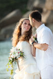 tropiskt bröllop arkivfoto