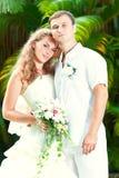 tropiskt bröllop arkivbild