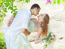 tropiskt bröllop fotografering för bildbyråer