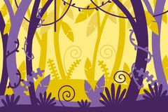 Tropiskt gömma i handflatan det organiska bakgrundsfotoet för leafen tropiskt cartoon illustration vektor illustrationer