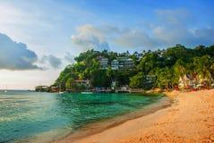 tropiskt härligt hav för strand Boracay Filippinerna Royaltyfria Bilder