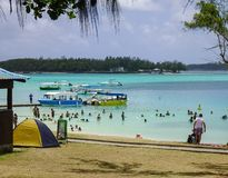 Tropiskt hav i Mauritius Island Arkivfoto