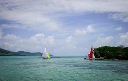 Tropiskt hav i Mauritius Island Arkivfoton