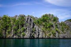 Tropiskt hav i Palawan, Filippinerna Arkivfoton