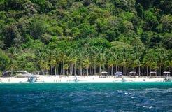 Tropiskt hav i Palawan, Filippinerna Arkivfoto