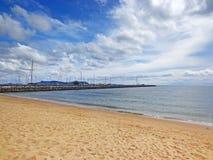 Tropiskt hav under den blåa himlen i Pattaya, Thailand Fotografering för Bildbyråer