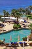 Tropiskt hotell för lyxig semesterort, Sharm el Sheikh, Egypten royaltyfria foton
