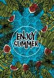 Tropiskt kort för sommar Royaltyfri Bild