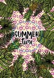 Tropiskt kort för sommar Arkivbilder