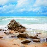 tropiskt kustliggandehav royaltyfri fotografi