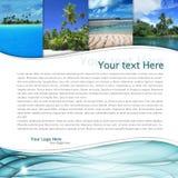 Tropiskt landskap Arkivbilder