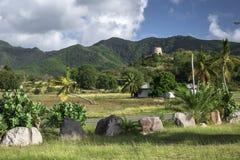 Tropiskt landskap av Antigua för karibisk ö arkivfoton