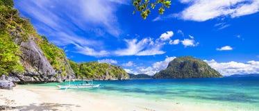 Tropiskt landskap av Palawan Arkivfoto