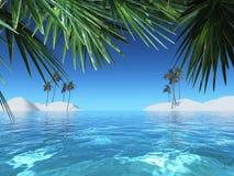 tropiskt landskap 3D vektor illustrationer