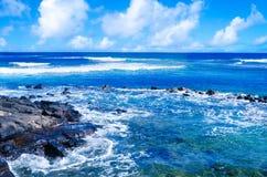 Tropiskt landskap i Hawaii, Kauai Arkivfoto