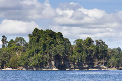 Tropiskt landskap i karibisk kust av Costa Rica Royaltyfri Bild