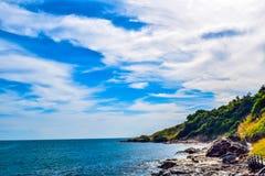 Tropiskt paradis, hav Thailand arkivbild