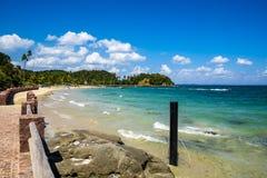 Tropiskt paradis på ön av Frades i fjärden allra Sain royaltyfria foton