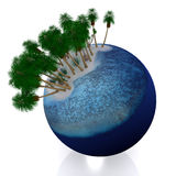 tropiskt planet 3d arkivbilder