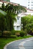 Tropiskt semesterorthotell fotografering för bildbyråer