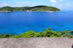 tropiskt stenigt hav för öar Royaltyfri Fotografi
