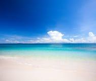 tropiskt strandhav Arkivfoto