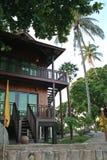tropiskt strandhus Royaltyfri Bild