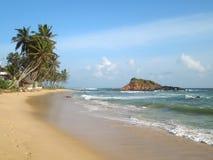 tropiskt strandlandskap Arkivbilder