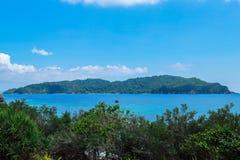 Tropiskt strandlandskap, Andaman hav royaltyfri foto