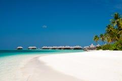 Tropiskt strandlandskap från Maldiverna Arkivbild