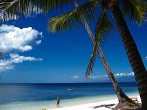 tropiskt strandparadis arkivbild