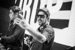 Tropkillaz présentent des coeurs d'album sur le feu à Moscou Images stock