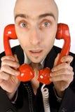 Troppe chiamate di telefono immagini stock