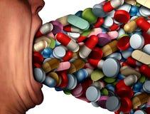 Troppe pillole Fotografia Stock Libera da Diritti