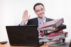 Troppo lavoro si dimette /quit Fotografia Stock Libera da Diritti