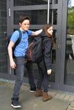 Troppo tardi, la porta della scuola è chiusa fotografie stock libere da diritti