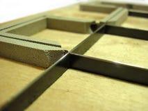 Troquelador - industria del polygraphy Foto de archivo