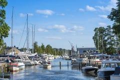 Trosa guest harbour Sweden Stock Photos