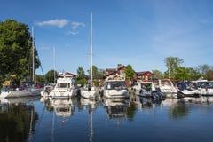 Trosa guest harbour Sweden Stock Photo