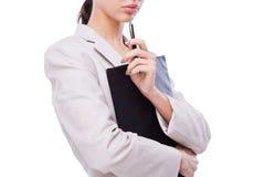 troskliwy bizneswoman Fotografia Stock