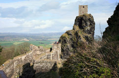 Trosky城堡在捷克 免版税库存图片