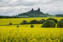 Trosky城堡,捷克 免版税库存照片