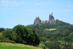 trosky的城堡 免版税库存图片