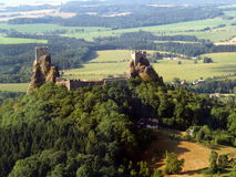 Trosky castle - air photo Royalty Free Stock Photography